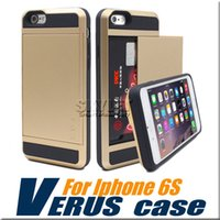 apple card case - V erus Case For iPhone Hybrid Armor Case Dual Layer Card Slide Case For iPhone S Samsung S7 with OPP Package