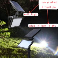 Wholesale Outdoor Waterproof In Ground floodlight LED Solar Energy Power Garden Solar lawn light Landscape Yard Decoration wall Light Lamp