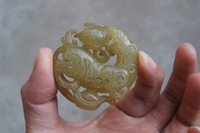antique rope making - Manual sculpture antique jade cornucopia the mythical wild animal the four seasons make a fortune Necklace pendant