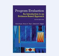 Wholesale New Book Program Evaluation An Introduction to an Evidence Based Approach th Edition ISBN free dhl shipping