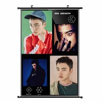 Wholesale Youpop KPOP EXO Album K M EX ACT Monster Lucky One DO D O Non woven Poster Wall Hanging Painting Wall Picture Flip Chart
