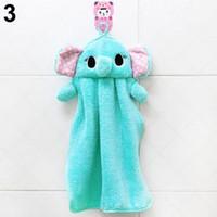 cotton fabric roll - 2015 New Nursery Hand Soft Plush Fabric Cartoon Animal Hanging Wipe Bathing Towel Retail K