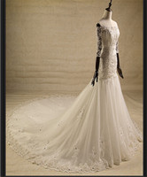best online wedding dresses - Mermaid Wedding Dresses Best Luxury Wedding Dresses Online Sexy Bateau Sweep Train Elegant Wedding Dress Vestidos de Novia