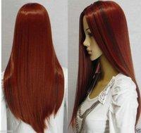 auburn fancy dress - gt Ladies Long Wavy Curly Hair Cosplay Fancy Dress Hair Full Wigs Z9996