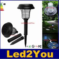 best insect killer - Best Solar Powered LED UV Mosquito Killer Lamp Outdoor Garden Insect Pest Bug Zapper Insect Killer cm