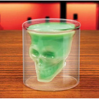beer stein gifts - hot sale OZ shot glasses skull head double wall beer Whisky glass cup