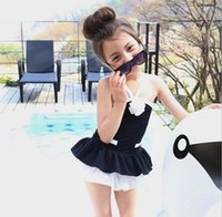 Wholesale New Fashion Summer Korean Style Little Girls PC swimwear Children Swimsuit for girls Baby Girl Swimsuit with skirt