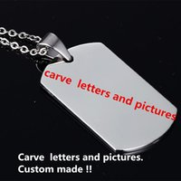 Wholesale stainless steel Tag custom made Lettering Sculpture Dog tags