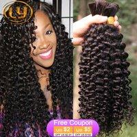 bulk hair extensions - 7A Peruvian Hair Curly Human Hair Extension Brazilian Hair Bulk Deep Curly Wave Bulk Hair Unprocessed Human Hair Bulk Hair Beautiful Star