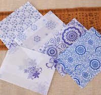 acid free paper - Vintage Retro Chinese Style Blue And White Porcelain Sulfuric Acid Paper Envelope For Kids Creative Gift