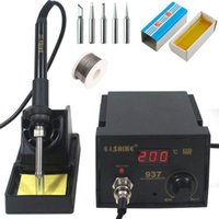 Wholesale Saike Soldering Station ESD Iron V W free tips Tin wire Rosin