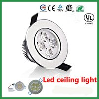 Wholesale High Power W Dimmable LED Downlights Round with driver LED lights ceiling light downlight AC85 V free ship