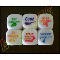 Wholesale new home game dice couple cook dice toys adult game dice housework dice creative gift party dice