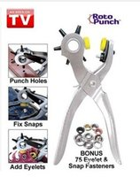 belt clamp tool - Roto Punch Holes Belt Clamp Add Eyelets Fixing Broken Snaps Punching Hole in Complete Home Pliers Tool DHL AA