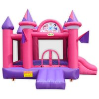 Wholesale 420D Polyester Coated Princess Inflatable Castle for Home Use Mini Bouncer with Nylon Material