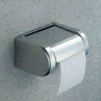 Wholesale Hot Sale Modern Square Polished Chrome NEW Chrome Stainless Steel Bathroom Toilet Paper Holder Tissue Box