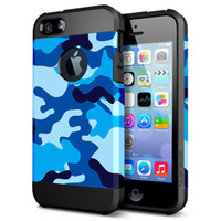 Wholesale Camo Style iPhone Armor Case for iPhone Plus Navy Camo Style PC TPU Case