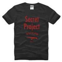 active projects - WISHCART Secret Project DEFEND PARIS AK47 Hip Hop Men s T Shirt T Shirt Men Fashion Short Sleeve Cotton Top Tee Camisetas Hombre