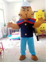 adult popeye costume - High Quality Popeye Mascot Costume Hand made Cartoon Character Costume Party and Commercial Activities Supply Adult Size