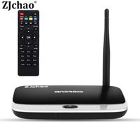 Wholesale CS918 Smart Set top Boxes Android TV Box Media Player RK3188 Chip GB GB with Remote Control WiFi b g n Tv Receivers