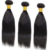 al por mayor entrega el envío rápido-10A grado de Mongolia Hai pelo recto teje 3pcs / lot extensiones de cabello humano Pelo de la reina del envío libre color natural del cabello de Bella entrega rápida