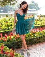 Wholesale 2016 Lovely Short Tulle Graduation Dresses with Ruffle Above Knee Length Cocktail Dresses Sleeveless Sweetheart Backless Prom Dresses DG