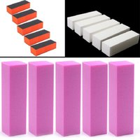 Wholesale high quality new White Buffing Sanding Files Block Pedicure Manicure Care Nail Art Buffer E00028