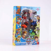 Wholesale 2016 Paw And Patrol Figures Toys With Game On Its Back Figures Doll Action Anime Dog Education Toys