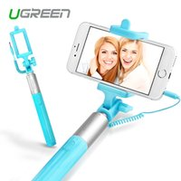 Wholesale Ugreen Universal Selfi Stick Wired Extendable Handheld Monopod Tripod Holder for Samsung Galaxy iPhone s s plus Palo Selfie