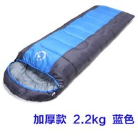 Wholesale Authentic camel outdoor sleeping bag adult winter warm sleeping bag can be splicing double lunch break