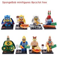 baby spongebob squarepants - Baby Toy Squarepants Crab Boss Spongebob Big Star Education Building Block Bricks Minifigures