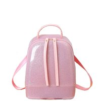 Wholesale New Silicon shinning leather women backpack sling lady chic essentials hand bags summer jelly candy color bag M1788