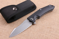 arrival finishes - Top Quality New Arrival Flipper Folding knife Cr19 HRC Titanium Finish Blade Steel G10 Handle EDC Pocket knives with Nylon bag