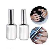 Wholesale ML Metallic Mirror Effect Nail Polish Metal Silver Varnish nailpolish ML Top Coat nail polish Nails Art Manicure Desi