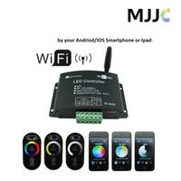 al por mayor 12 cc dimmer-Regulador de 12-24V WIFI RGB LED Dimmer ajustable de la temperatura de color para las tiras del LED por el androide 2.1 o IOS4.3 Smartphone al ranurador de la familia