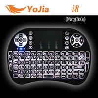 Wholesale 10pcs Rii i8 Keyboard Wireless Backlight Air Mouse Remote With Touchpad Handheld For TV BOX X96 T95 M8S MXQ PRO Plus