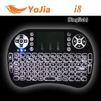 air receivers - 10pcs VONTAR Rii I8 Keyboard Wireless Backlight Air Mouse Remote With Touchpad Handheld For T8 T95 M8S Plus MXIII TV Box