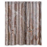 Wholesale High Quality Bath Curtain Vintage Rustic Brown Faux Wood Shower Curtains Mouldproof Waterproof Bathroom Curtain quot x quot