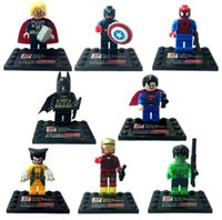 america box set - 4 cm The Avengers Minifigure Super Heroes Iron Man Captain America Building Blocks Sets DIY Bricks Toys without Package Box K7656