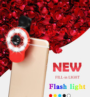 Wholesale Hot LED Selfie Sync Flash Light RK09 Fill in Light with in lens and kinds of filters For Smartphone iOS Android Samsung