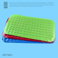 Wholesale Han Pai Durable Colored Bathroom Carpet Safety antimicrobial PVC Bath Shower Mat with Non slip Suction Cup HP7401