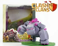action figure boxes - 15CM COC Clash of Clans Golem Boxed PVC Action Figure Collectible Model Toy Doll PVC Action Figure Collection Model Kids Gift Doll Toys Box