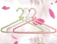beautiful coat rack - 5pcs cm Hangers For Cothes Pearl Plastic Hanger Beautiful Fashion Coat Suit Dress Hanger Women White Clothes Rack