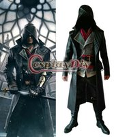 Wholesale Assassins Creed Cosplay Adult Men Assassin s Creed Syndicate Jacob Frye Halloween Cosplay Costume Custom Made D0314