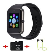Wholesale 40 GT08 Bluetooth Smart Watch Phone Smartwatch Wristwatch with Camera for HTC Huawei LG Xiaomi Android Smartphones KR