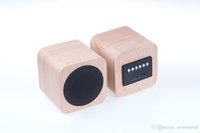 audio speaker manufactures - Direct manufacture from AVWOO A008 Mini Wooden Bluetooth Speaker with FM radio hands free and built in rechargeable battery