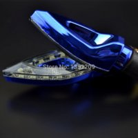 amber stick - 4x Universal Motorcycle Blue LED Turn Signal Indicators Blinker Amber Light led flashing light stick