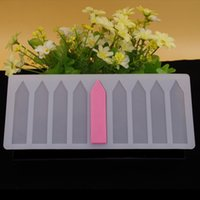 Wholesale 9 Holes Raillings Shape Chocolate Plugin Mould Silicone Baking Mould for Cake Decoration Bake Moulds for Parties and Celebrations White