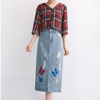 Cheap Ladies Fashion Denim Skirt | Free Shipping Ladies Fashion ...