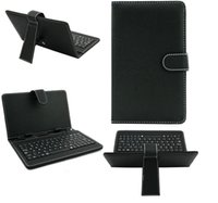 Wholesale 7 inch inch inch inch Keyboards Leather Cover Cases Flip Stand Mini USB Micro USB For Q88 Tablet PC